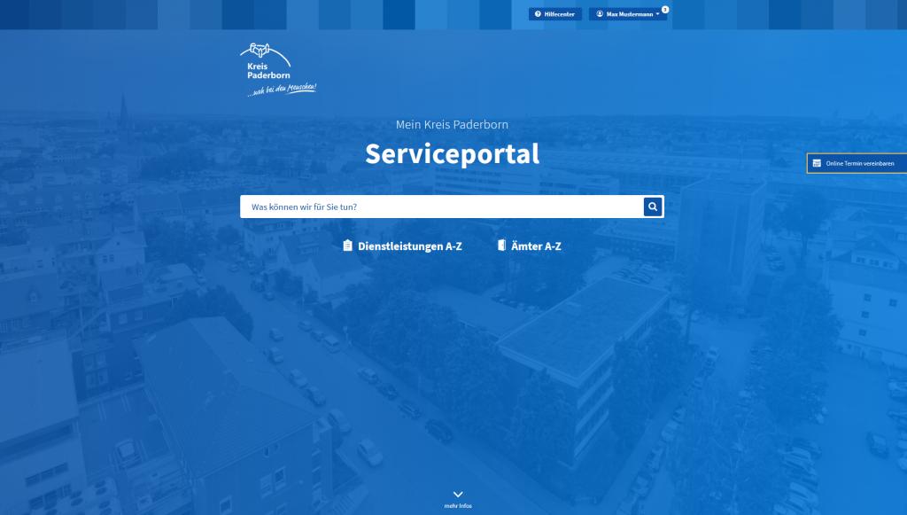 Vorschau des Serviceportal-Designs
