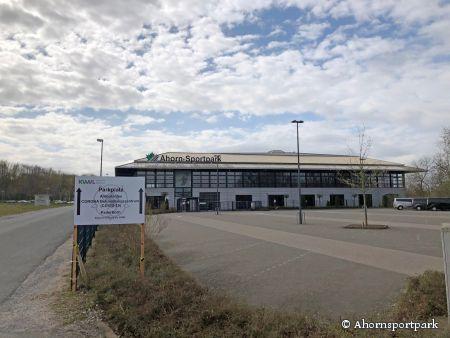 Ab Montag, 6. April startet im Ahornsportpark ein ambulantes Behandlungszentrum für Corona-Patienten. (Foto: © Ahornsportpark)