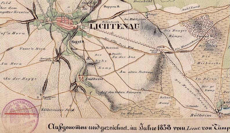 Karte Paderborn.Historische Karten Kreis Paderborn