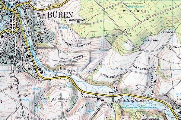 topographie karte Topographische Karten   Kreis Paderborn topographie karte