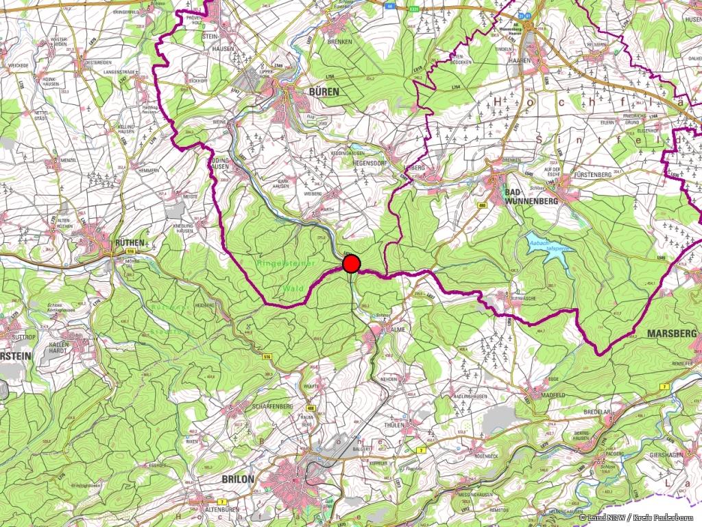 Naturschutzgebiet Almetal Kreis Paderborn